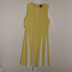 Taylor 6 Yellow Midi Dress